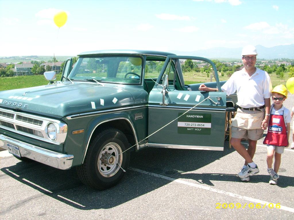 truck, Chuck, a 1971 Dodge